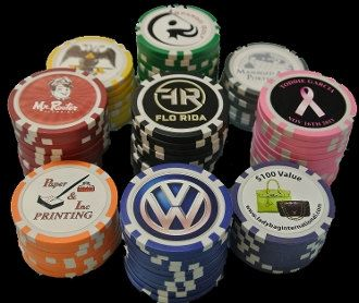 Custom Poker Chips with your photo, logo or imprint on both sides in full color. Employee culture - motivator??