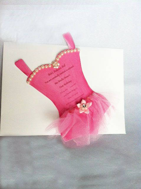 Tutu Invitations Ballerina Party In 2019 Tutu