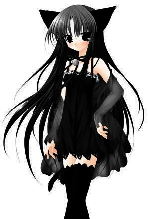 Anime black cat girl inspiring ideas pinterest cats - Anime kitty girl ...