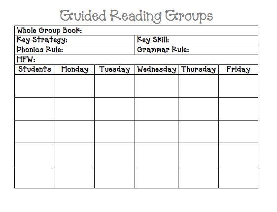 107 best Reading first grade images on Pinterest Beds, Reading - sample guided reading lesson plan template