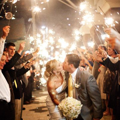 We love sparklers! #wedding