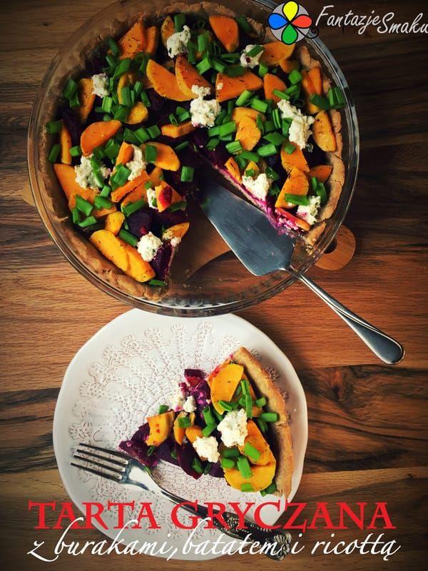 Tarta gryczana z burakami, batatem i ricottą http://fantazjesmaku.weebly.com/blog-kulinarny/tarta-gryczana-z-burakami-batatem-i-ricotta