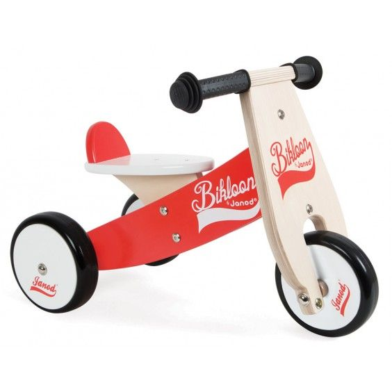 Janod - Wooden Bikloon Trike Ride-On