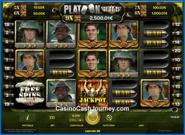 Platoon Wild is iSoftBet's second video slot take on the famous 1986 movie…