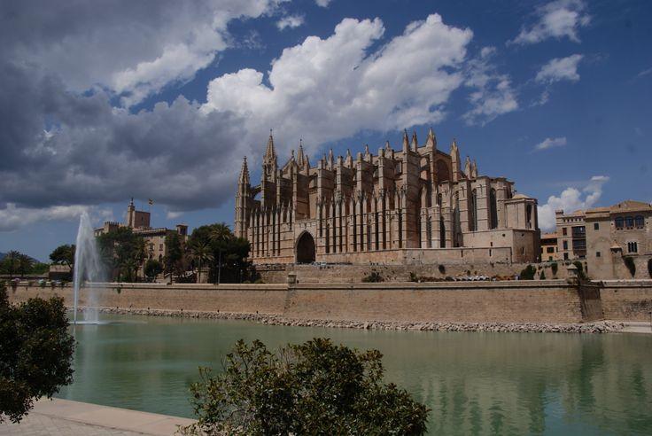 De kathedraal La Seu in de hoofdstad Palma