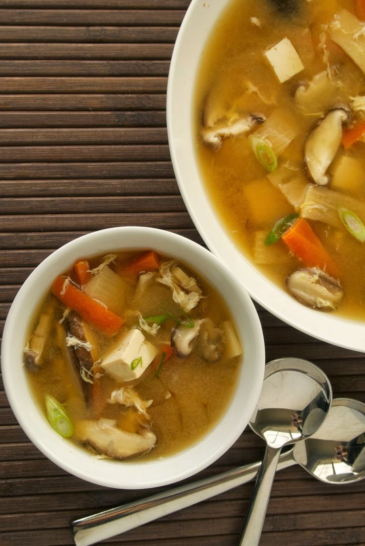 Check out Chinese hot and sour soup. It's so easy to make ...
