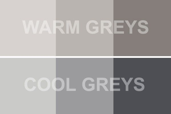 The difference between greys - warm vs cool