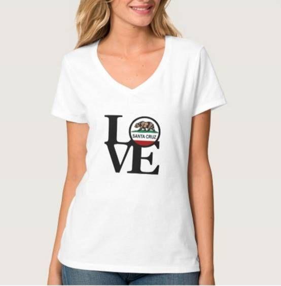 LOVE Santa Cruz White V-Neck