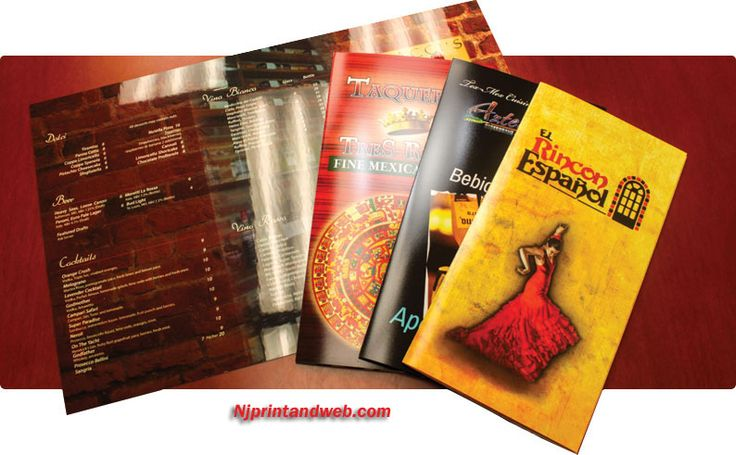 Restaurant menu printing and Printing restaurant menu is easy at NJPRINTANDWEB.COM in New York, backed by a 100% satisfaction guarantee and Free delivery.