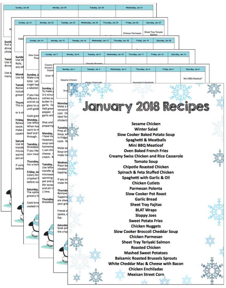 2018 Meal Plan