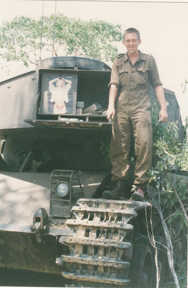 SADF battered warrior Olifant MBT.