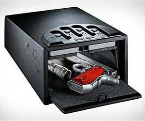 Fingerprint Gun Safe  Don't just keep your gun a little bit safe — keep it completely locked down with the fingerprint gun safe. The fingerprint gun case only allows authorized fingerprints to access the safe, so you can store you guns without worry of unwanted use.  Buy It  $115.99