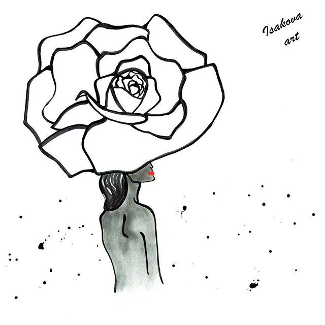 2017/09/07 06:26:22 Inspired by the style of @patrickdemarchelier and gorgeous @cturlington  _ #artist #illustration #illustrator #patrickdemarchelier #christyturlington #styled #modeling #flower #painted #painter #fashionaddict #fashionista #fashionbloggers #beauty #blacknwhite #rose #roses #artlife #photograph #photoshoot #photographerlife #class #style #stylish #artistic #искусство #фотограф #модель #мода #стильно