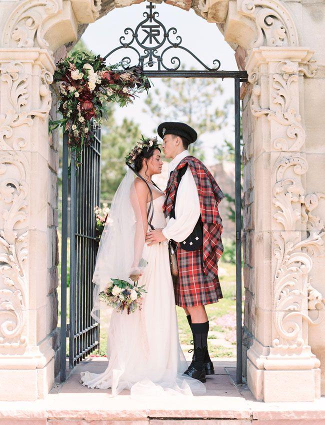 "Romantic Scottish wedding inspiration from ""Outlander"""