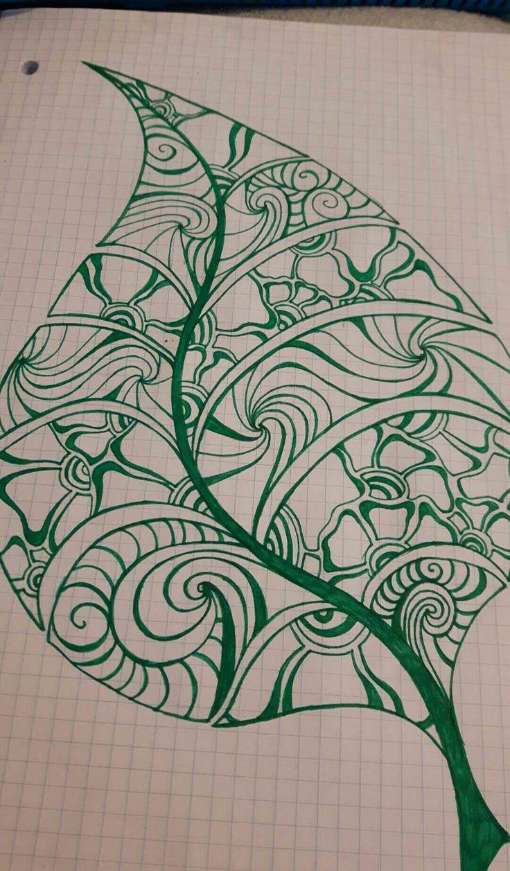 Flowery leaf