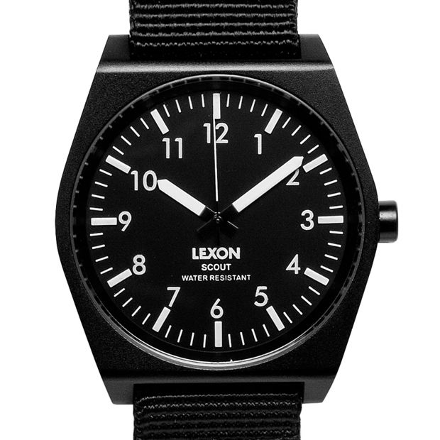 SCOUT (black) watch by Lexon. Available at Dezeen Watch Store: www.dezeenwatchstore.com