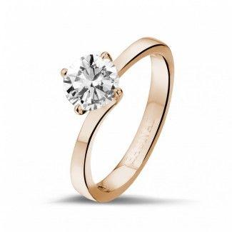 1.00 quilates anillo solitario diamante en oro rojo                                                                                                                                                                                 Más