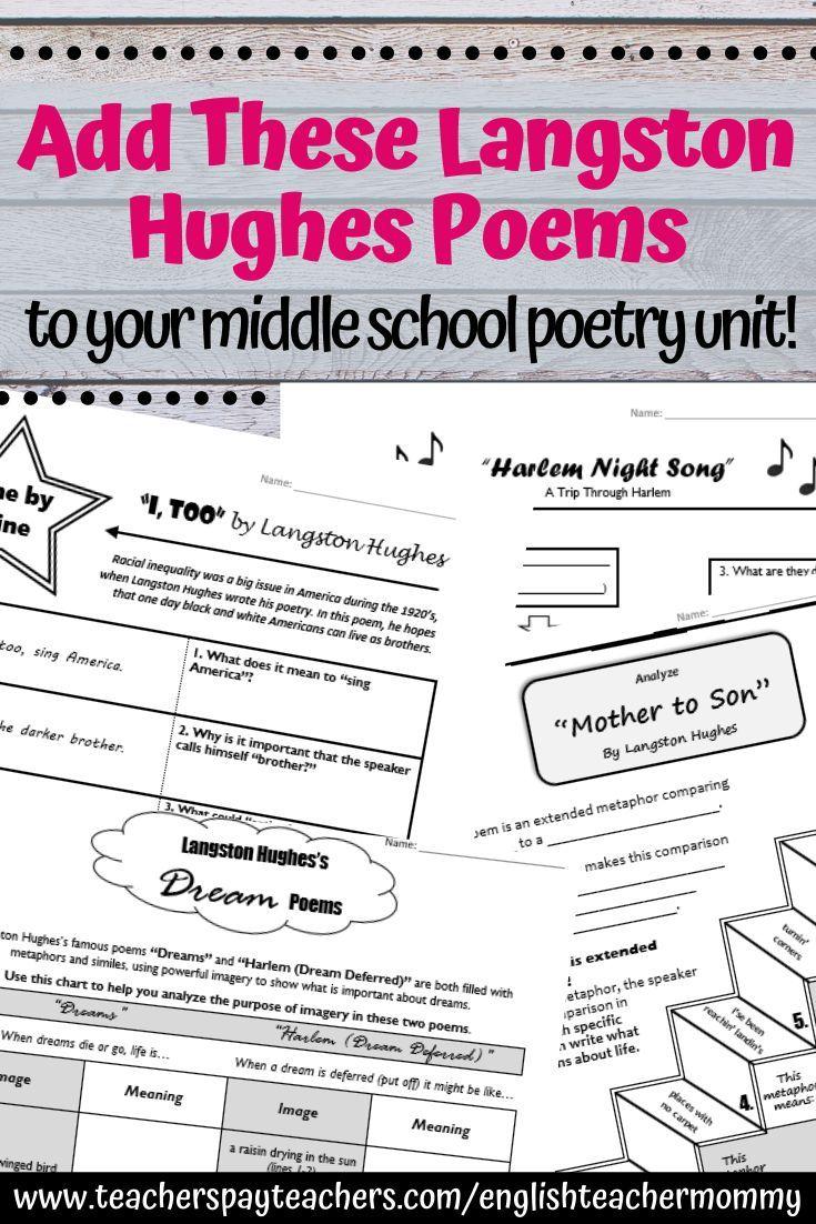 Langston Hughe Poetry Activitie For Middle School 7 How Doe Paraphrasing Help Reader Understand