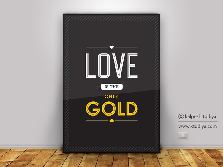 LOVE IS THE ONLY GOLD - LOVE QUOTE
