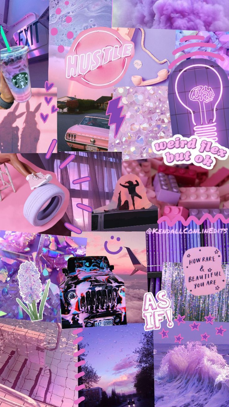 Instagram Kendallconlinedits Pink Purple Edit Collage