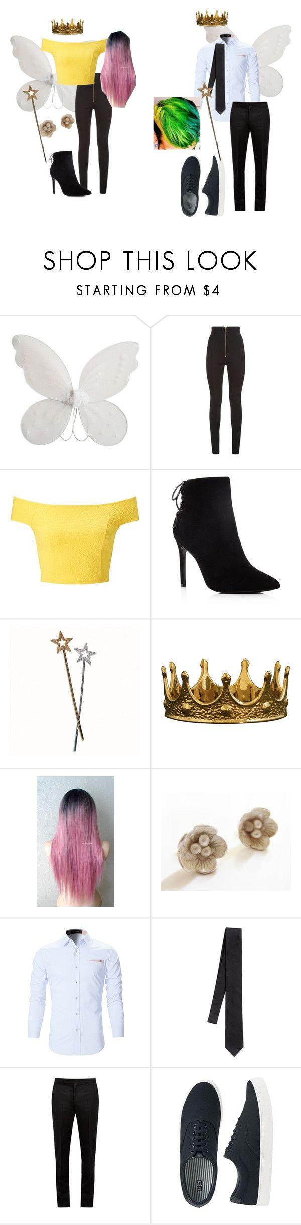 """wanda and cosmo costume"" by meltat20 ❤ liked on Polyvore featuring Balmain, Miss Selfridge, Charles David, Seletti, Catherine Marche, Dolce&Gabbana, Maison Margiela and Uniqlo"