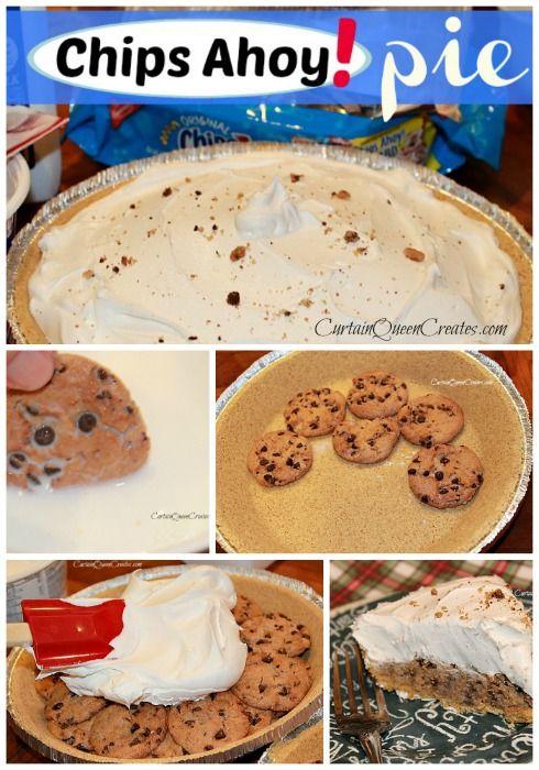 Chips Ahoy! Pie @ CurtainQueenCreates.com