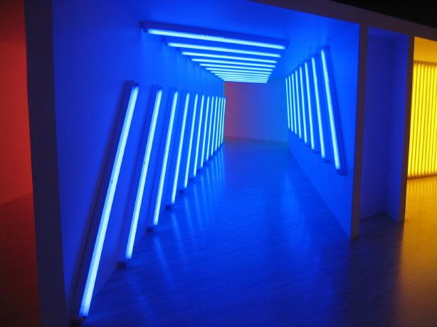 Corridor -- by Dan Flavin at the Los Angeles County Museum of Art