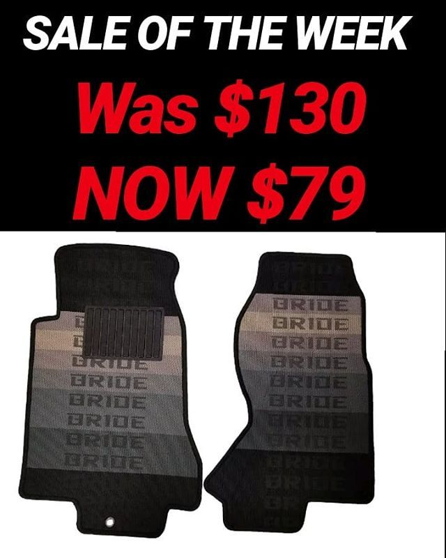 Sale Of The Week 1 Pair Of Fd Rx7 Bride Racing Floor Mats Durable Material With Rubber Heel Pads Comes With 2 Front Mats A Floor Mats Flooring Rubber Heels
