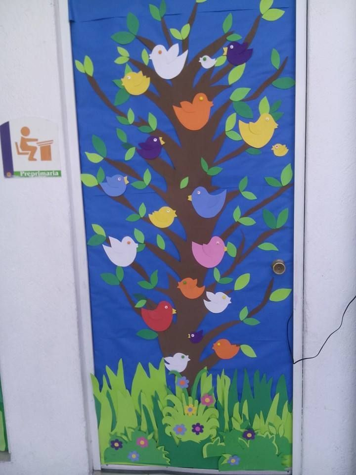 Classroom Door Decoration Ideas For Diwali ~ Puertas primavera preescolar pinterest bulletin