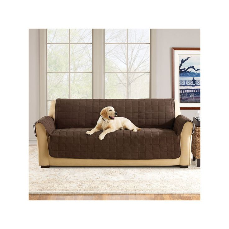 Sure Fit Ultimate Waterproof Suede Sofa Cover, Brown