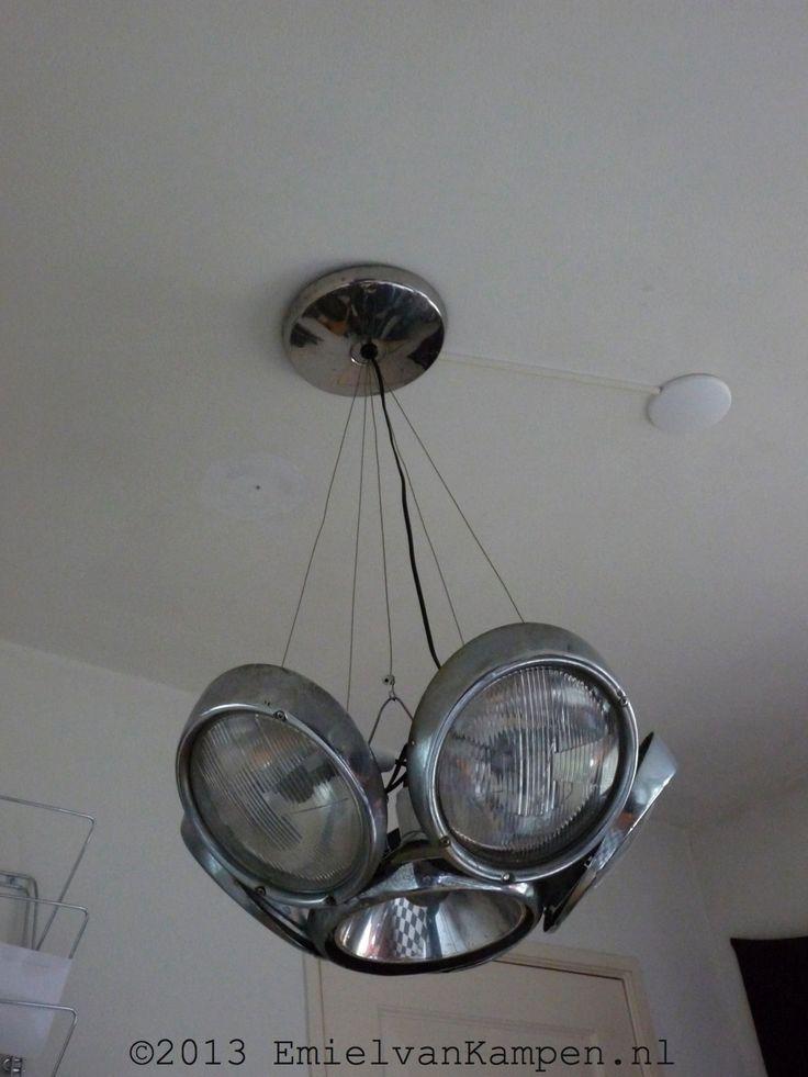 VW Beetle Headlight Chandelier