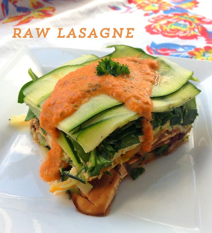 "This is a recipe that I've been playing with and tweaking for a couple of years. I think I finally got it just right - this dish has the healthiness, virtuousness, and nutrition of raw food, the freshness of salad and the savory yumminess of lasagna. If you don't like the idea of ""raw lasagna,"" you…"
