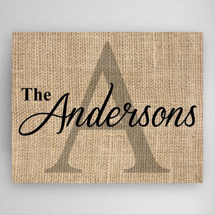 DETAILS: This Family Name & Initial canvas sign is a perfect gift for a housewarming or for a wedding gift. This Canvas is designed in a burlap background to fit any room in your home. MEASUREMENTS: 1