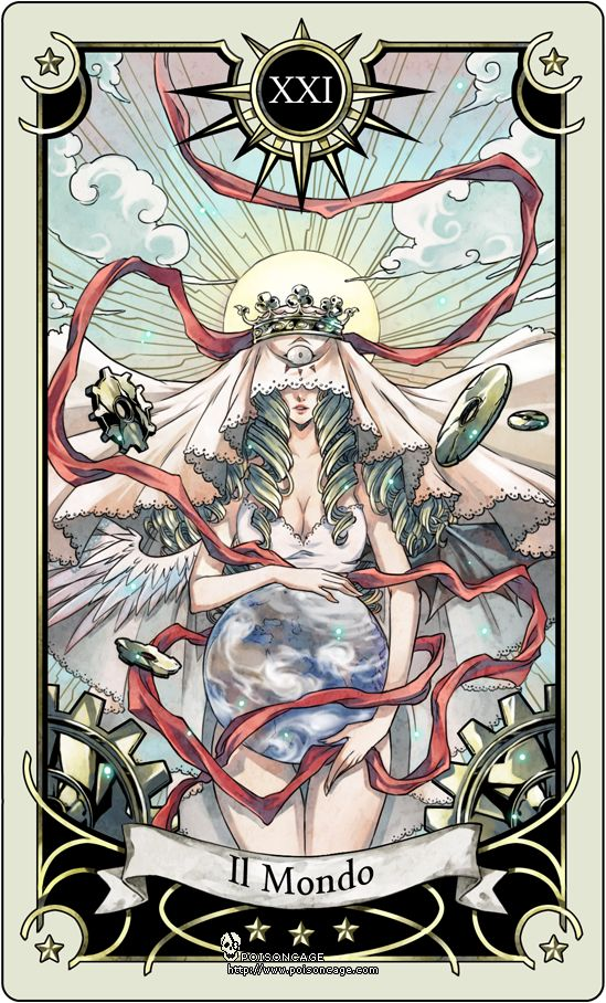Tarot card 21- the world by rann-poisoncage.deviantart.com on @DeviantArt