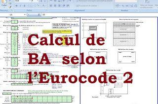Calcul de béton armé sur Excel selon l'Eurocode 2