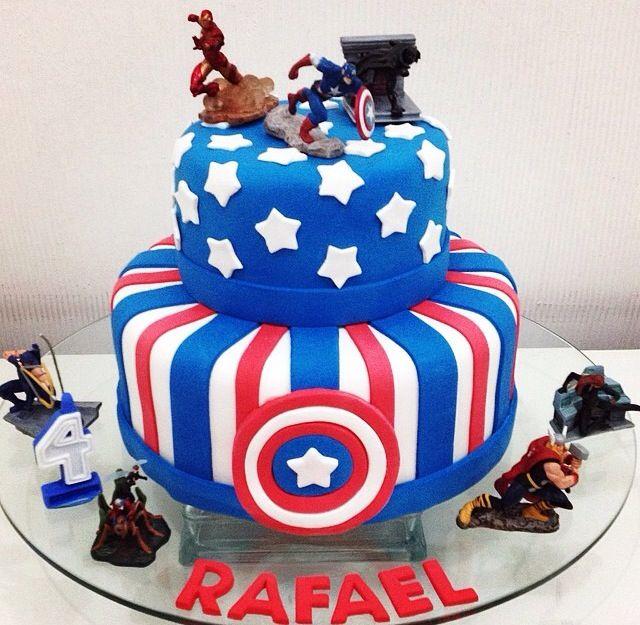 Birthday Cake Captain America