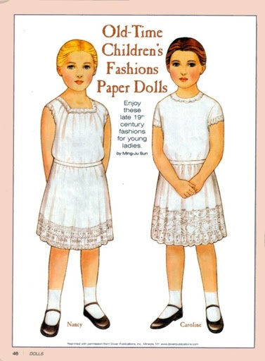 Old-Time Children's Fashions - late 1800s | Paper Dolls