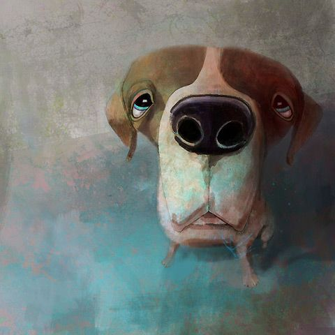 Anders Malmo artist #dogs