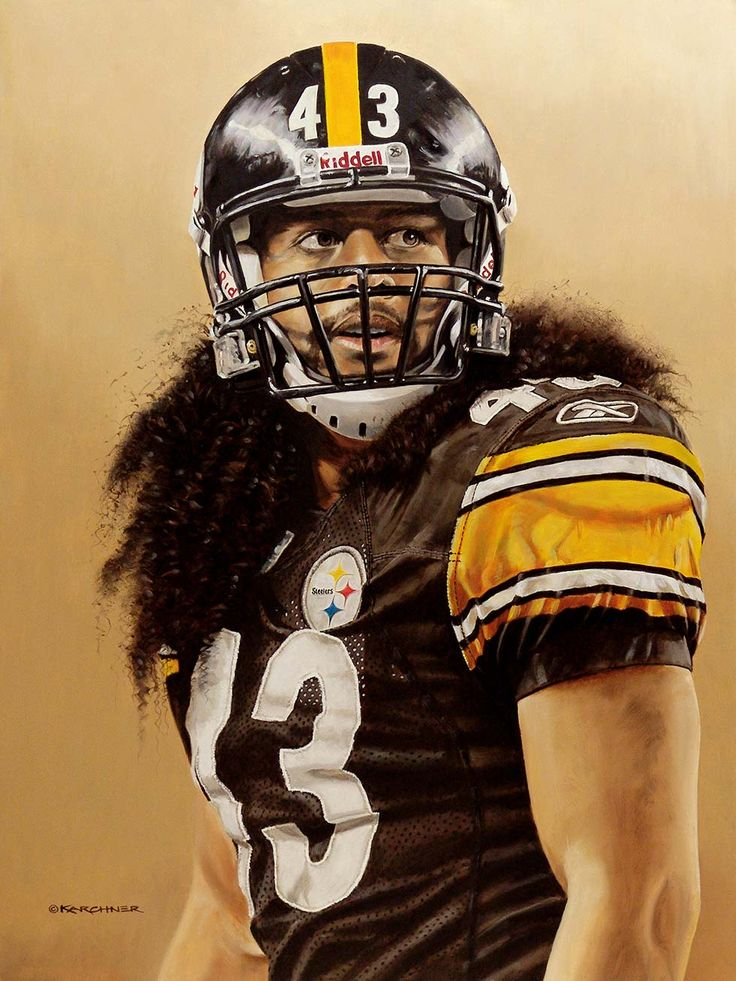 Troy Polamalu Strong Safety Pittsburgh steelers players