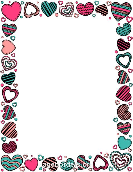 Heart Doodle Border