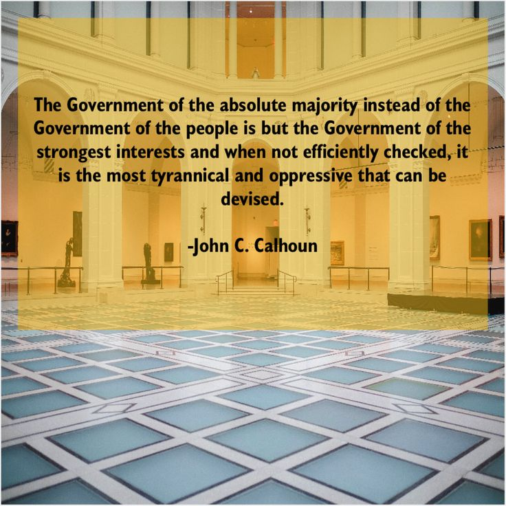 John C. Calhoun The Government of the absolute Anne