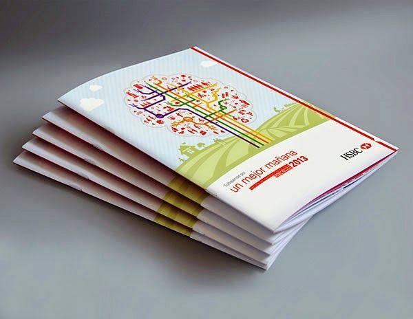 Contoh Desain Gambar Buku Laporan Tahunan - Reporte de Inversión Comunitaria HSBC 2013 oleh René Luna
