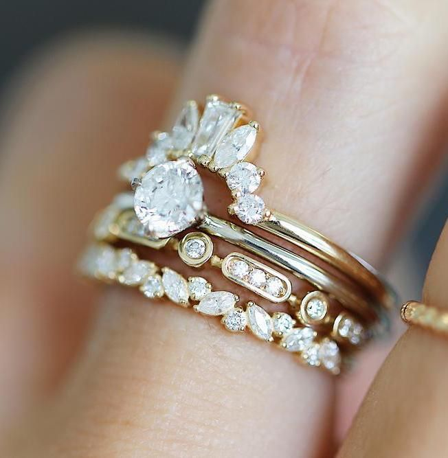 Petite Cluster In 2020 Diamond Wedding Bands Engagement Ring White Gold Vintage Engagement Rings