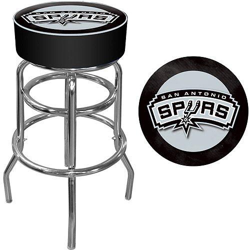 Trademark Global NBA San Antonio Spurs Padded Swivel Bar Stool