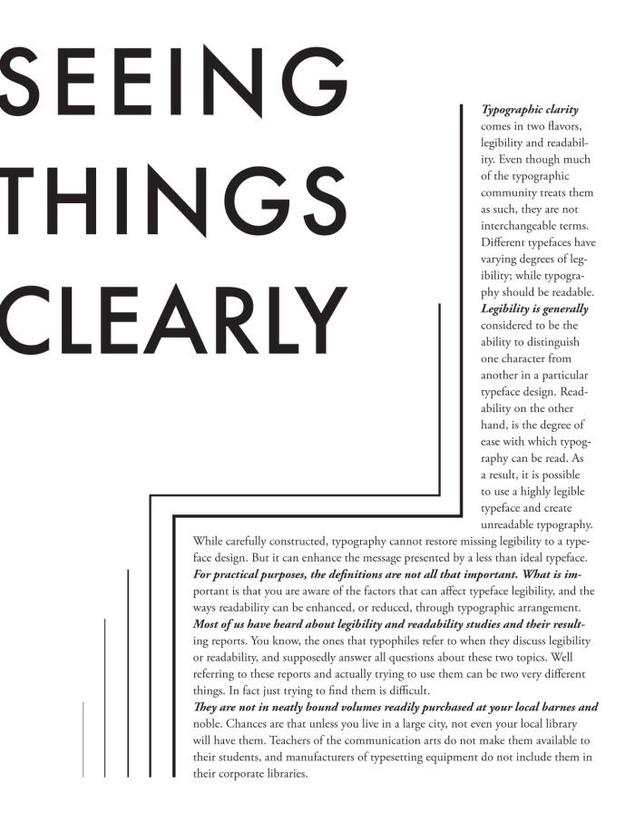 Marking paragraphs inventively | type eh?: Layout Inspiration, Magazines Layout