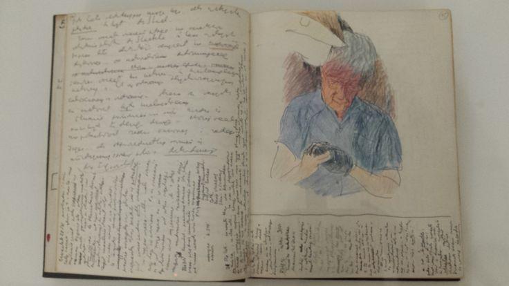 Pięknie ilustrowane i zapisane dzienniki Józefa Czapskiego w Muzeum Narodowym w Krakowie.