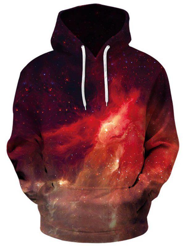 Kangaroo Pocket Nebula Galaxy Hoodie - COLORMIX M