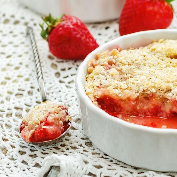 Tarte aux fraises façon crumble
