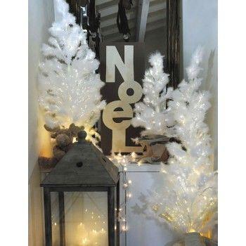Sapin Fibre Optique Blanc - Pure Deco
