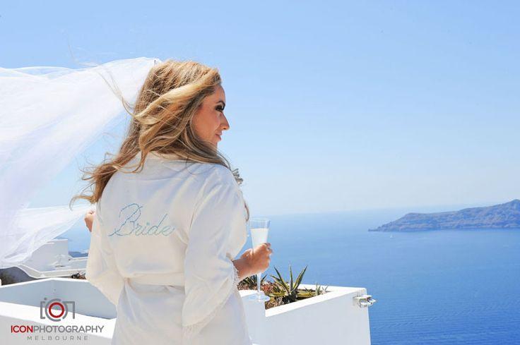 Embellished Bridal Robe - Santorini Wedding Greece